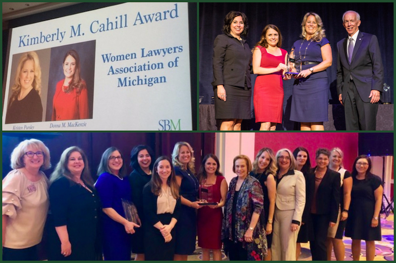 Women Lawyers Association of Michigan Wins Prestigious Kimberly M. Cahill Award