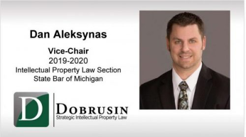 Dan Aleksynas Sworn in as Vice-Chair of State Bar of Michigan Intellectual Property Law Section