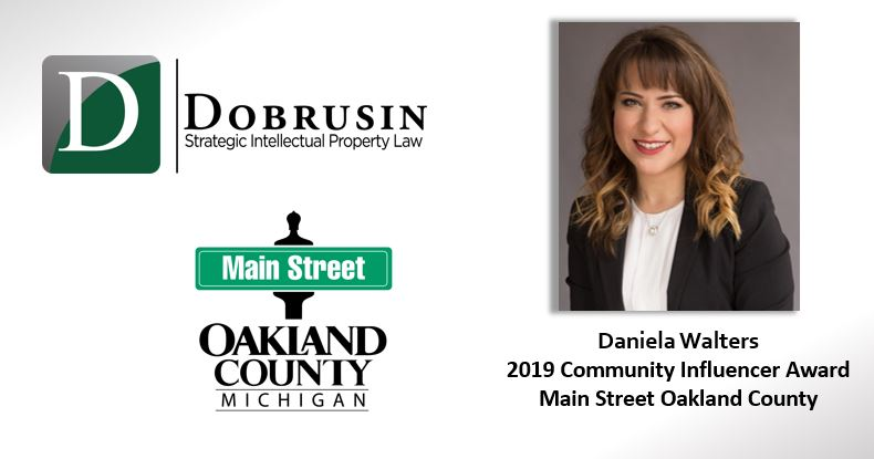 Daniela Walters Receives Main Street Oakland County's 2019 Community Influencer Award